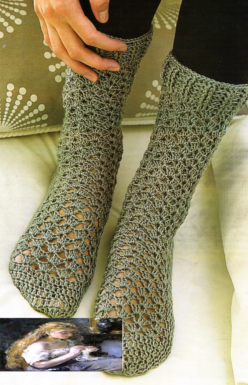 tejidos artesanales en crochet medias tejidas en crochet. Black Bedroom Furniture Sets. Home Design Ideas