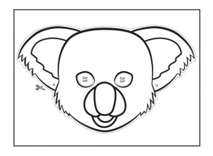 Koala mask to make