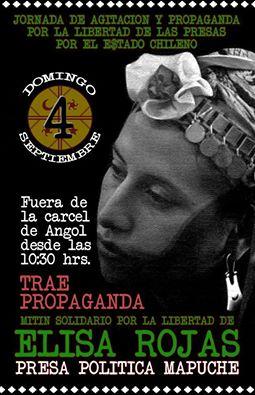 ANGOL: JORNADA DE AGITACION Y PROPAGANDA POR LA LIBERTAD DE LAS PRESAS POR EL ESTADO  CHILENO