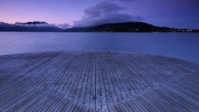Image of Annecy lake at dawn