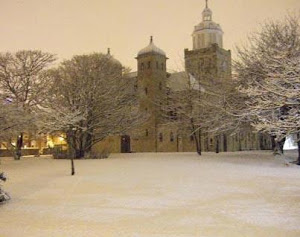 Portsmouth Cathedral in the snow
