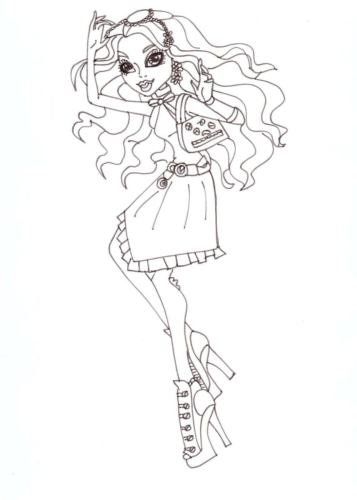 Robecca Fashion Coloring Sheet CLICK HERE TO PRINT Free Printable Monster High