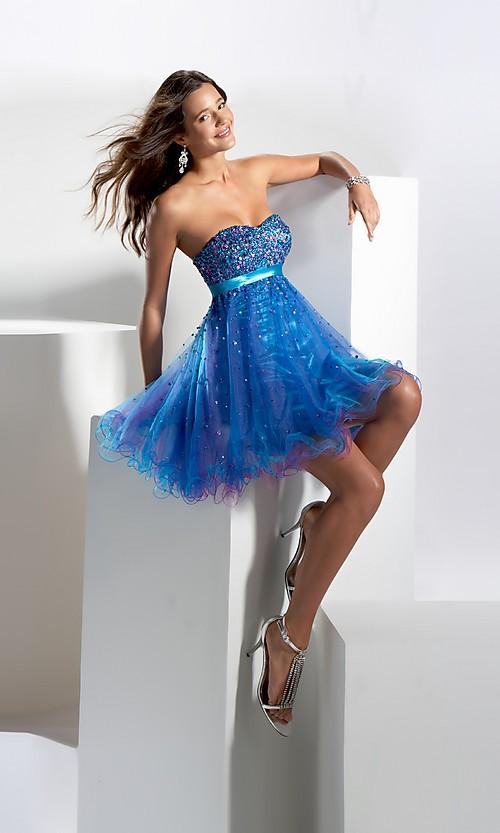 Modern prom dresses in blue short dressespic 2013