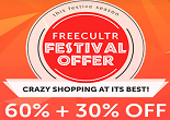 Freecultr Diwali Festival Offer: Flat 60% + Extra 30% OFF on Order of at Rs. 2999