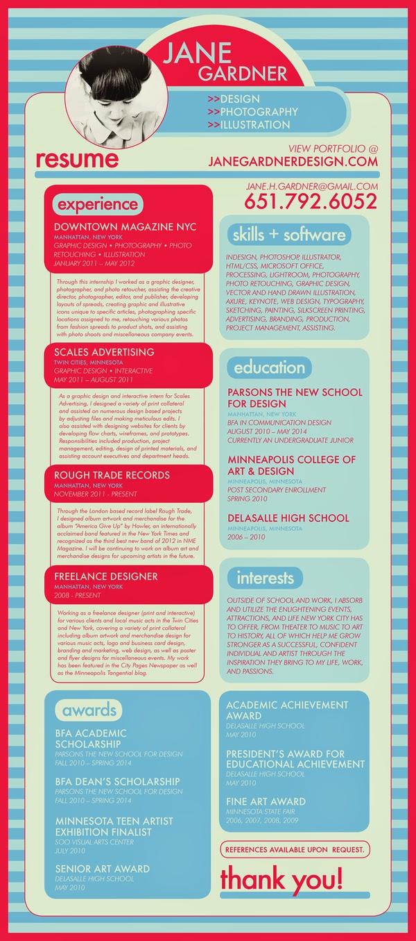 Contoh Menakjubkan CV / Resume Yang Kreatif Dan Menarik ~ Terus ...