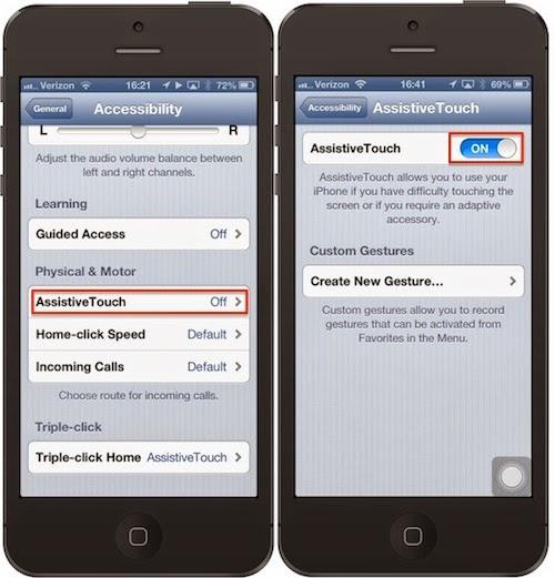 Cách cài đặt phím Home ảo trên iPhone