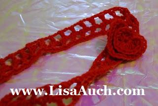 Crochet headband-free crochet patterns-crochet heart pattern