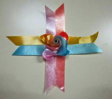 diy How to weave rose ribbon