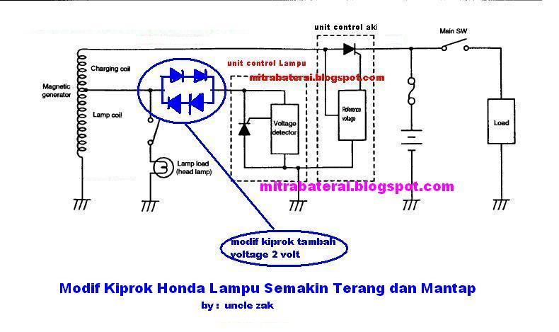 Tipe kiprok Motor Honda Original modif kiprok 2/2 diode tambah voltage ...