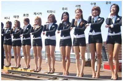 Photo of Girls' Generation height ranking receives attention