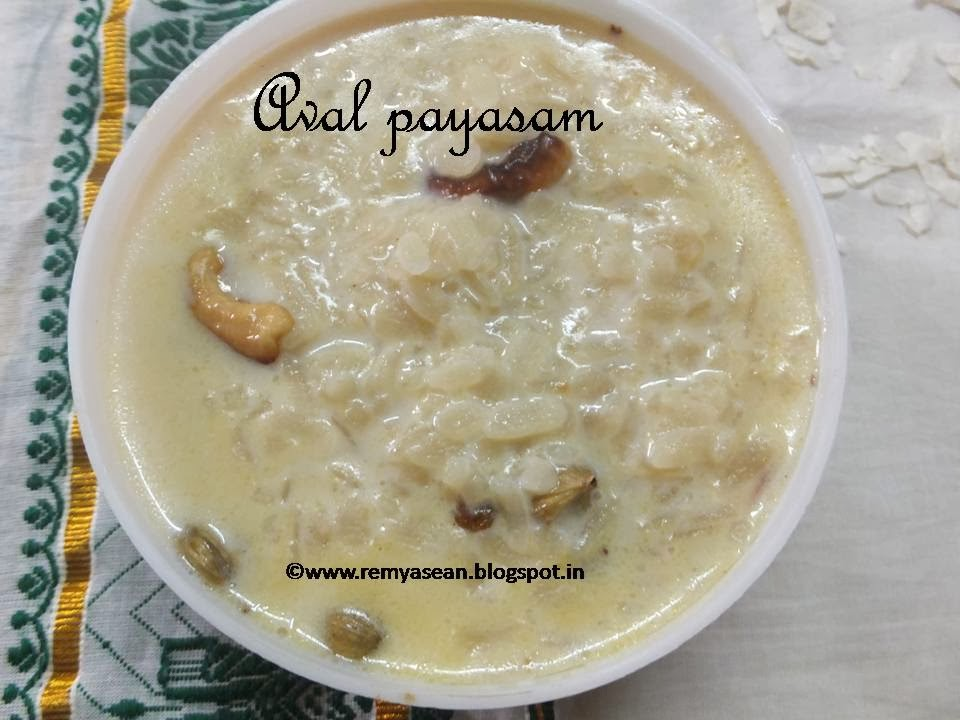 Aval payasam/Rice flakes kheer