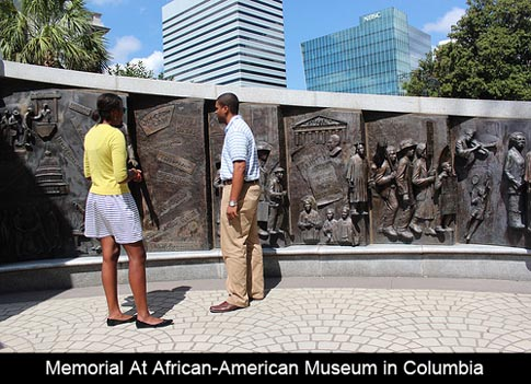 &lt;img src=&quot;image.gif&quot; alt=&quot;This is Memorial at African American Museum in Columbia, SC&quot; /&gt;