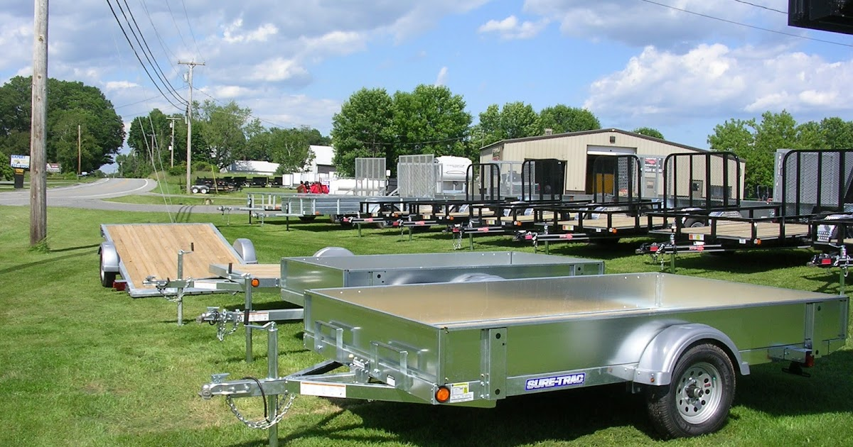 Michaud 39 s trailers winslow maine sure trac galvanized trailers