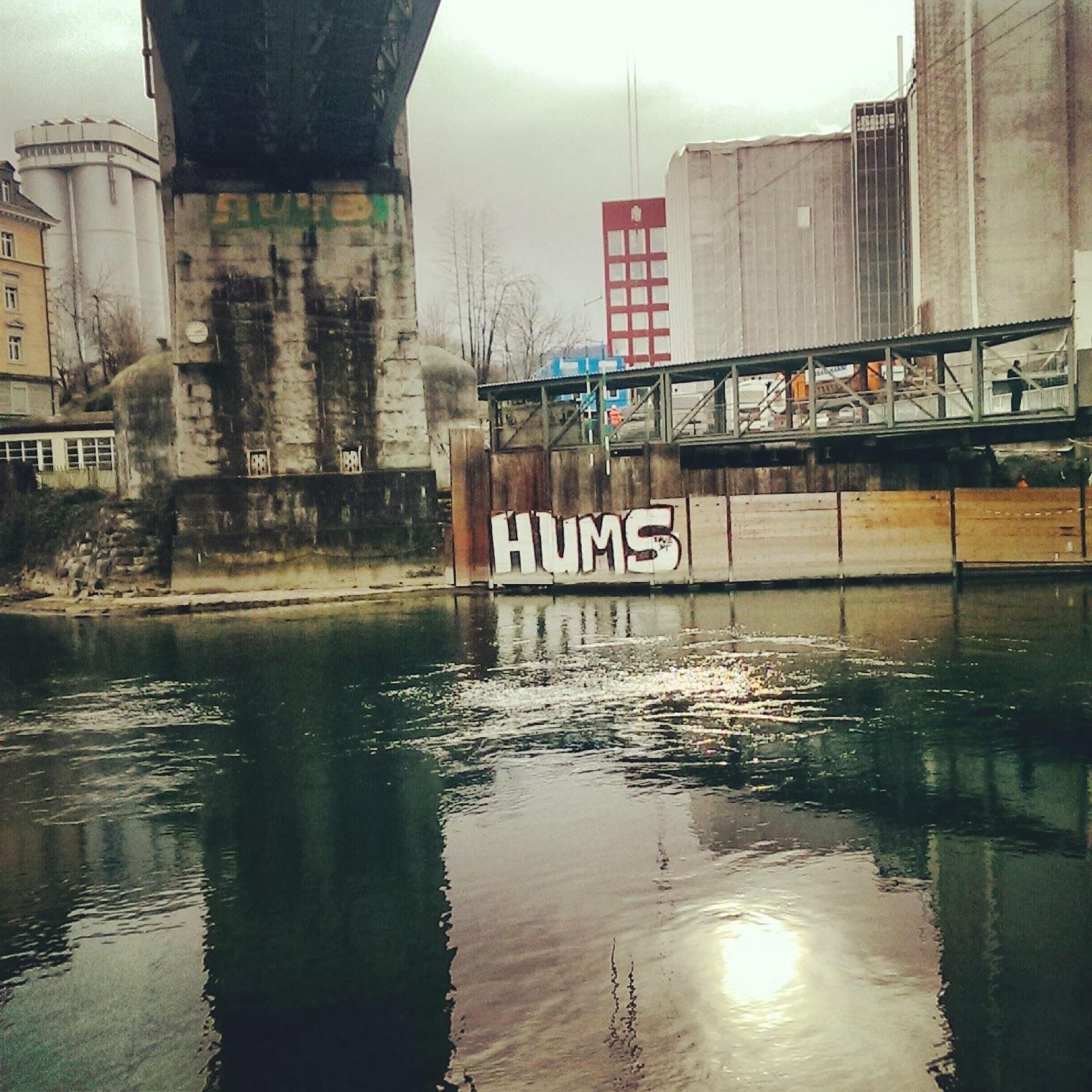 Zürich Schweiz Limmat Graffiti Brücke
