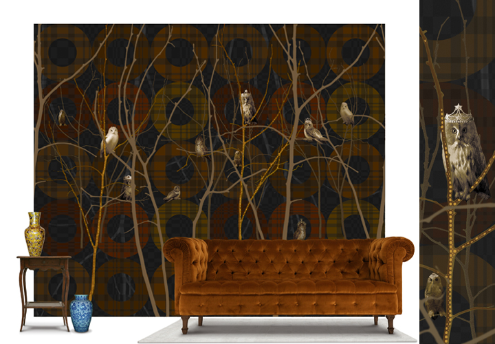 Today I saw this Scandinavian wallpaper.... a real eyecatcher.... just ...