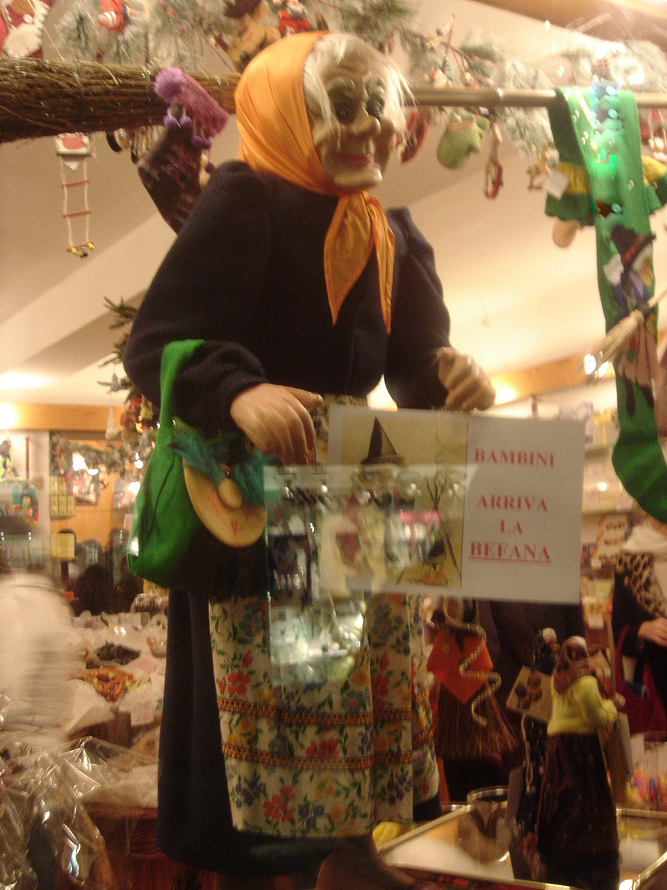 Befana Giving Gifts to Children