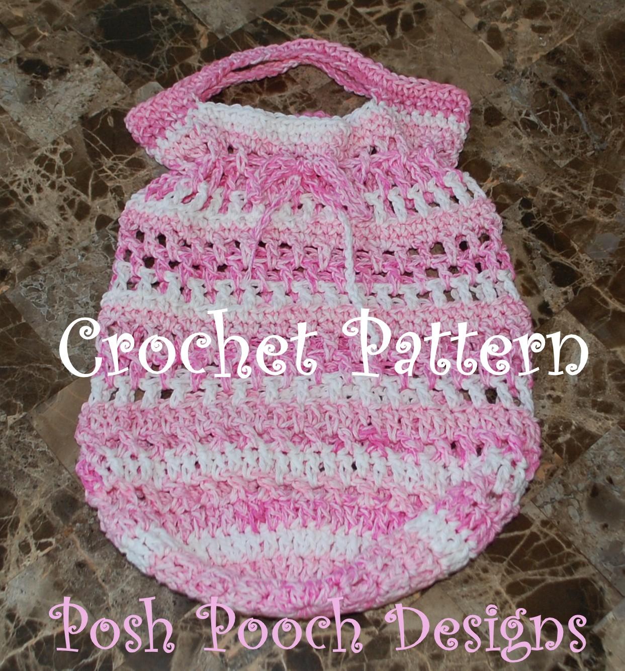 Crochet Cotton Bag : ... Designs Dog Clothes: Round Bottom Cotton Shopping Bag Crochet Pattern