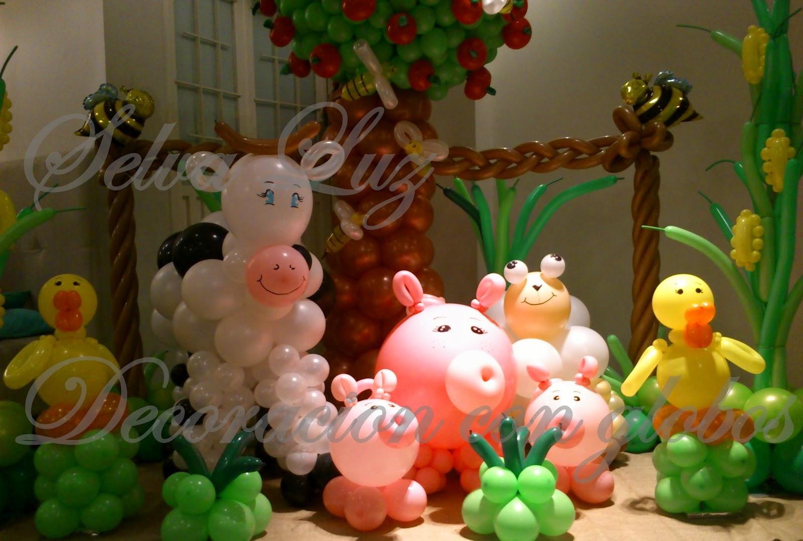 Selva luz decoraci n con globos buenos aires argentina - Cabezas de animales decoracion ...