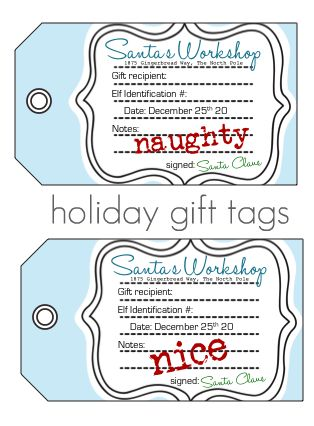 296 free printable holiday gift tags the scrap shoppe 4 naughtynice christmas tags sewafteate negle Choice Image