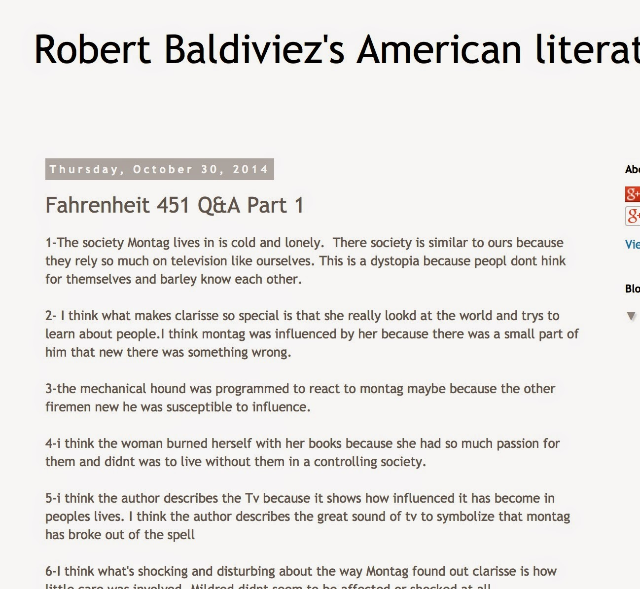 fahrenheit 451 irony essay Fahrenheit 451 essays: over 180,000 fahrenheit 451 essays, fahrenheit 451 term papers almost defining feature of satire is its strong vein of irony or sarcasm.