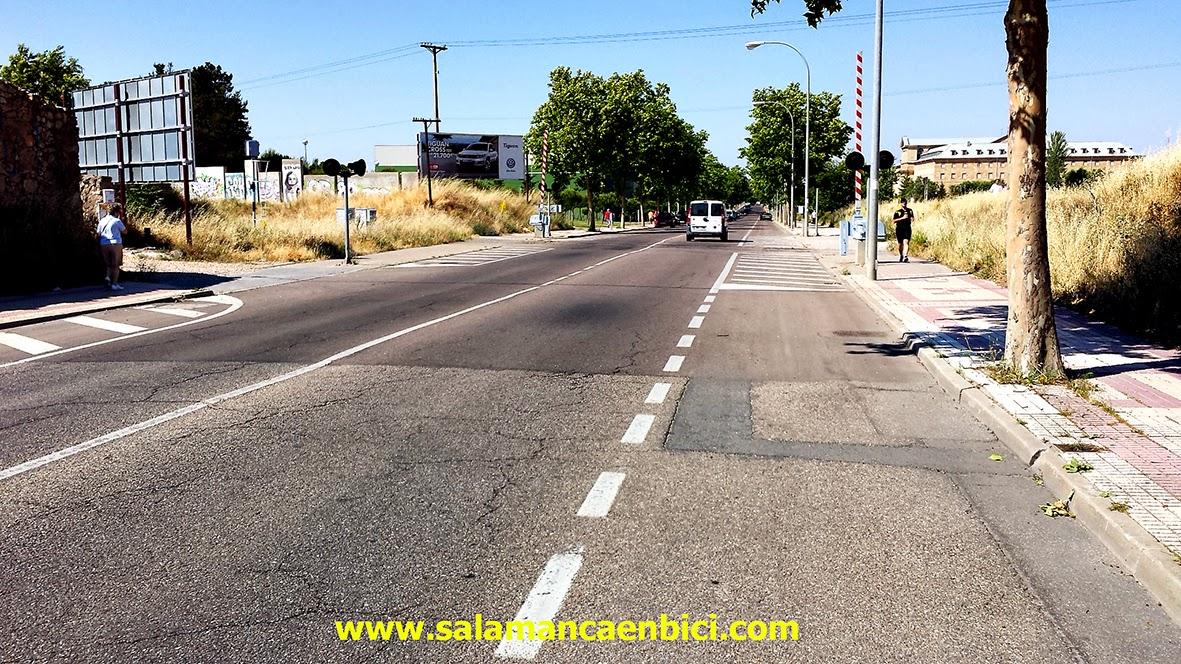 carril bici salamanca en bici