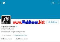 @Afgansyah_Reza, Akun Twitter artis penyanyi solo & penulis lagu Indonesia