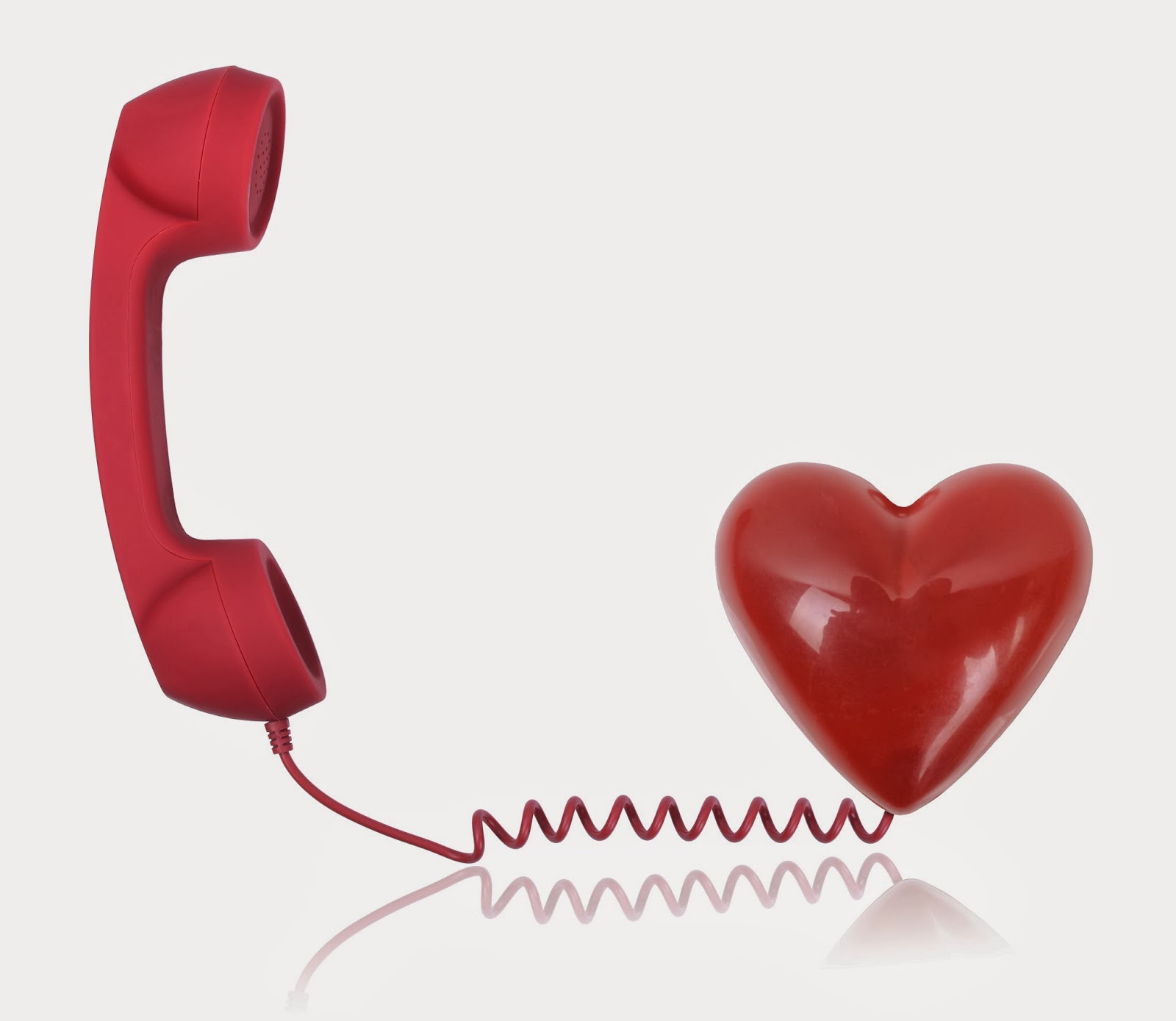 phone connected to a heart