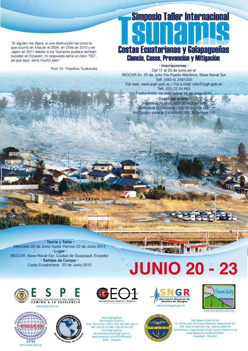 Simposio internacional tsunamis ciencia casos for Salida de la oficina internacional de origen aliexpress