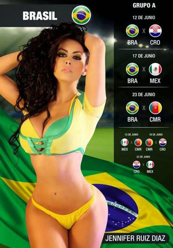 Calendário do Mundial 2014
