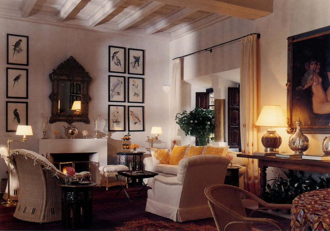 Loveisspeed marella agnelli marrakech home with for Mark d sikes living room