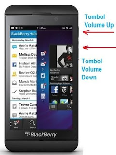 Cara Mudah Screenshot di HP BlackBerry Z10
