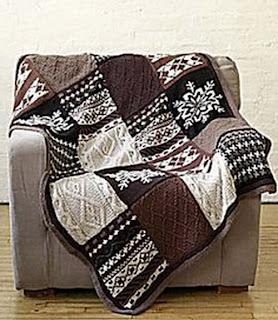 Вязаные пледы и одеяла
