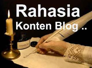 Info Blog, Rahasia Konten Blog