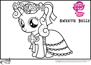 sweetie belle coloring pictures