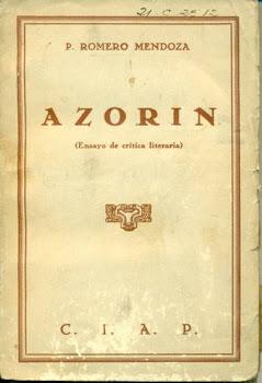 A Z O R Í N  -Ensayo de crítica literaria- (Leer la obra completa)