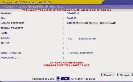 Nomor Referensi Transaksi Bank BCA