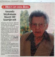 Amanda Meylemans 1904-2005 vervoegt de eeuwcirkel