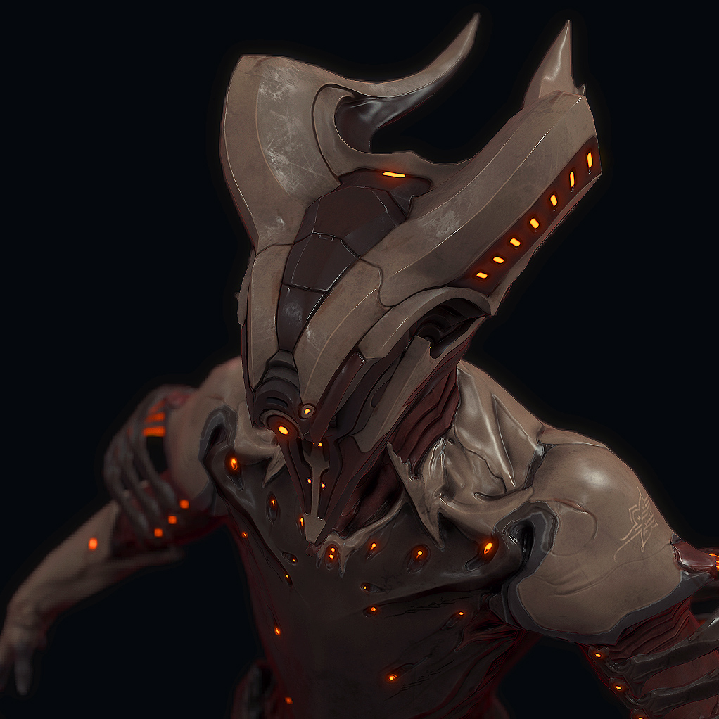 Manny's many likes on things left and right: Art Critique ... Warframe Volt Helmet