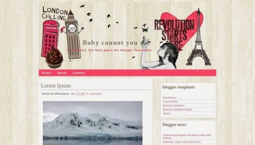 baby cannot you see love blogger template 2014 for blogger or blogspot,pink template for blogger,download free love blogger template 2014 2015,1 column blog template for blogger,gray pink combination template 2014