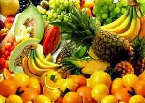 Buah-buahan, nanas, pisang