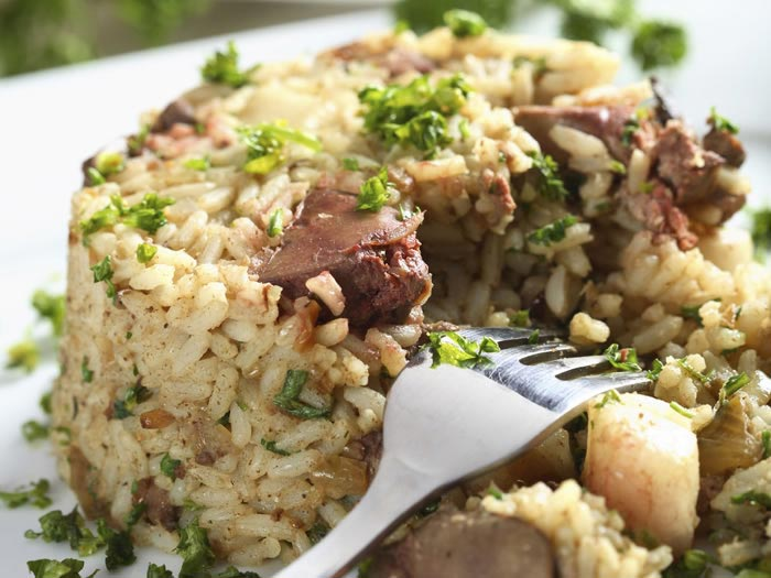 Variety foods baked rice with chicken livers tajine orz for Baked chicken liver recipes