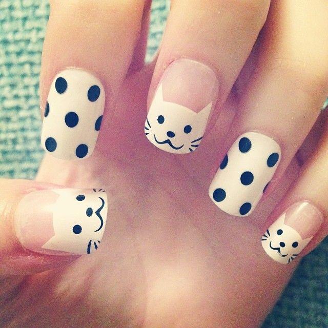 10 Diseños Kawaii Para Uñas Faciles http://bit.ly/1LDPau3 | nail art ...