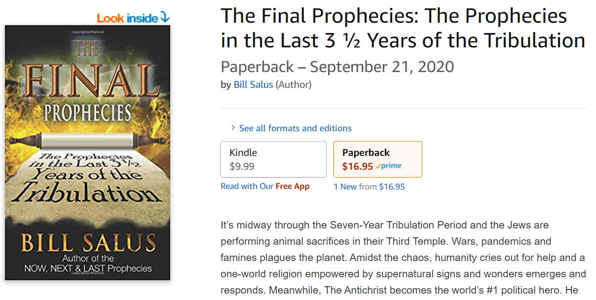 NOW ON KINDLE - THE FINAL PROPHECIES