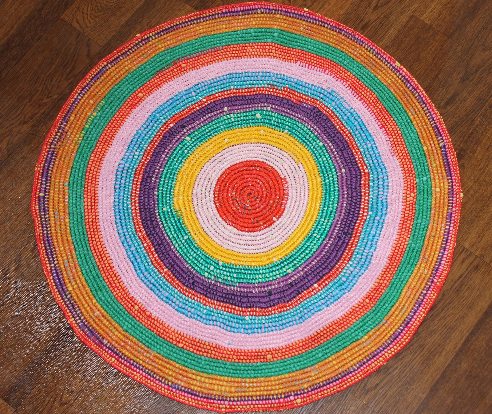 Вязание круглого половика крючком 91