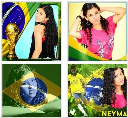 Fazer montagem de fotos para copa do mundo 2014