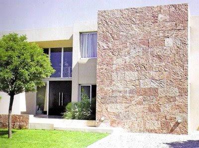 Decoraciones y modernidades modernas casas con fachadas de piedras - Piedras para fachadas de casas modernas ...