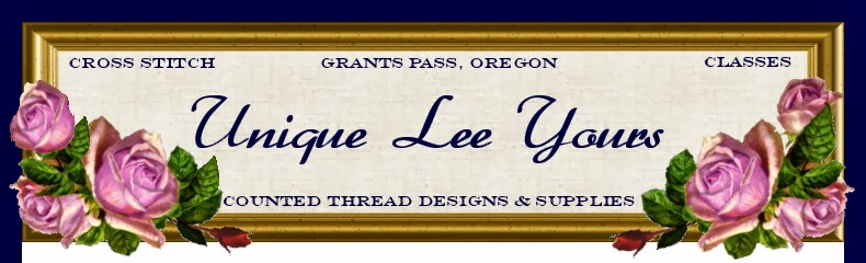 "Unique Lee Yours Cross-Stitch & Needlework - ""Where Everyone Counts"""