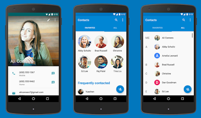 Google Has Published Google Contacts Apps Live With new UI and More Enhancements : Download APK