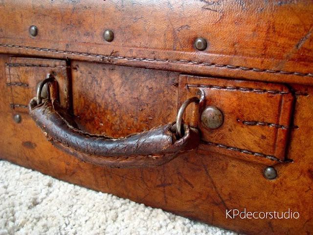 Maletas de viaje de cuero antiguas