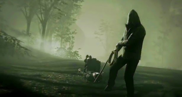 Murdered Soul Suspect Bell Killer dragging girl tied to chair
